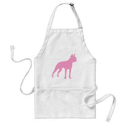 Pink Boston Terrier Dog Gifts Aprons