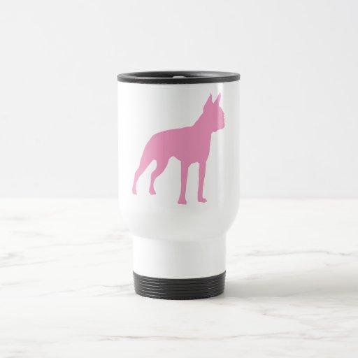 Pink Boston Terrier Dog Gifts Coffee Mugs