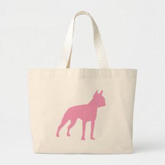 Pink Boston Terrier Dog Gifts Large Tote Bag