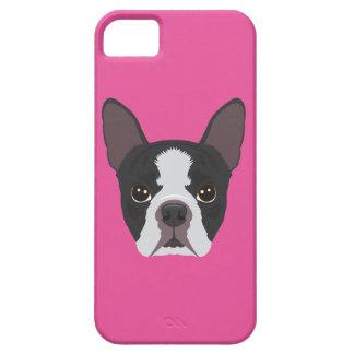 Pink Boston Terrier iPhone SE/5/5s Case
