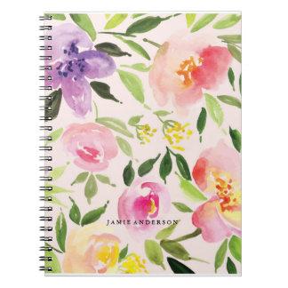 Pink Botanical Floral Notebook