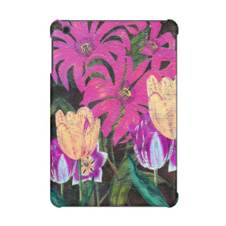 Pink Botanical Tulips Oil Brush Painting iPad Mini Retina Cases