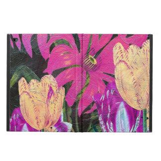 Pink Botanical Tulips Oil Brush Painting Powis iPad Air 2 Case