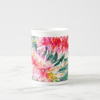 Pink bottlebrush flower mug