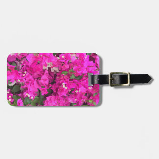 Pink Bougainville Flowers Luggage Tag