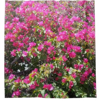 Pink Bougainvillea Bush Print Shower Curtain