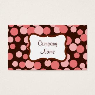 Pink Bouncing Dots Business Card