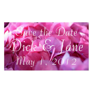 pink bounty, Save the Date Business Cards