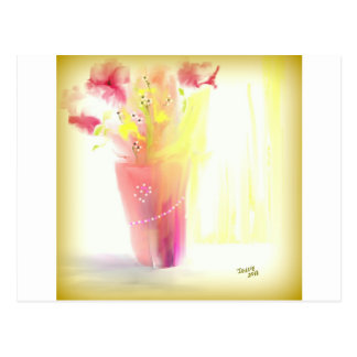 Pink Bouquet and Pearls Postcard