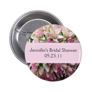 Pink Bouquet Bridal Shower Button