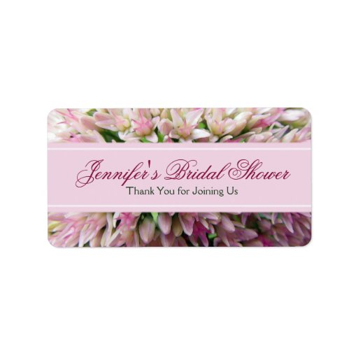 Pink Bouquet Bridal Shower Thank You Label