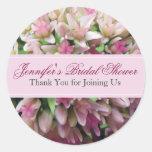 Pink Bouquet Bridal Shower Thank You Sticker