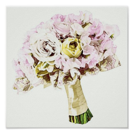 Pink Bouquet ~ Poster