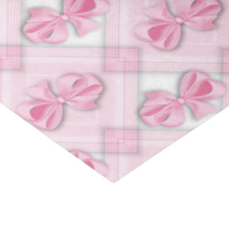 """Pink bow baby girl tissue paper 15"""" x 20"""" tissue paper"""