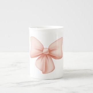 Pink Bow Bone China Mug