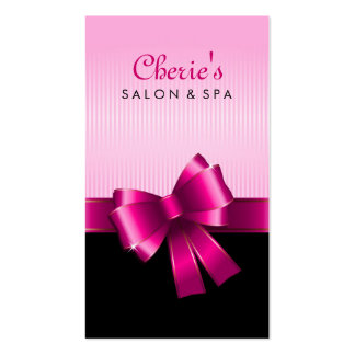 Pink Bow Business Card
