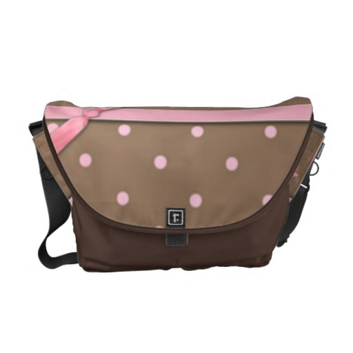 PInk Bow Courier Bags