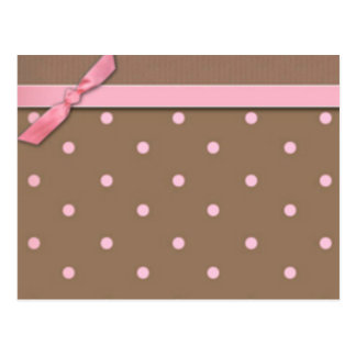 Pink Bow Cue Cards Postcard
