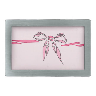 Pink Bow Decorative Ribbon Gifts Rectangular Belt Buckles