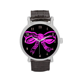 Pink Bow Fashion Watch