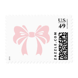 Pink Bow | It's a Girl Baby Shower Stamp