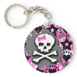 Pink Bow Keychain