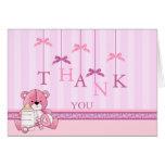 Pink Bow Mobile thank you card
