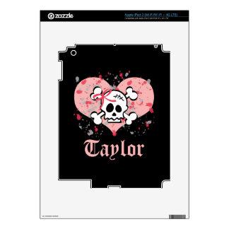 Pink Bow Skull iPad 3 Skin