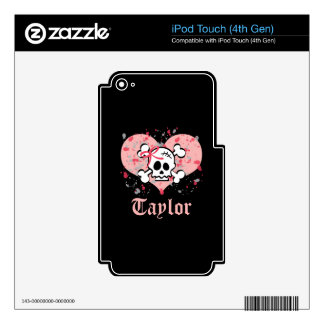 Pink Bow Skull iPod Touch 4g Skin