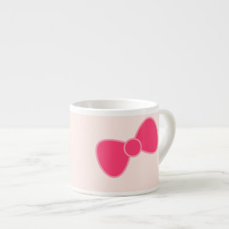 Pink Bow Espresso Cups