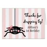 PINK BOW SPIDER THANK YOU CARD
