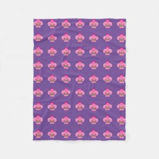 Pink Bow-Tied Fleur De Lis Pattern Fleece Blanket