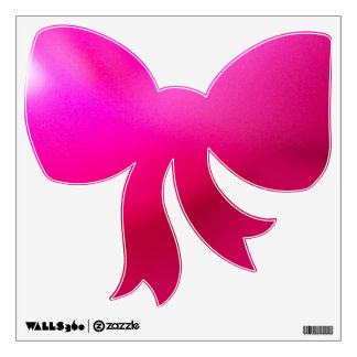 Pink-Bow Wall-Decal© Roseanne Pears 2012. Wall Decal