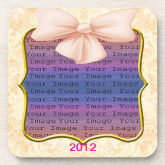 Pink Bow Wedding Coasters