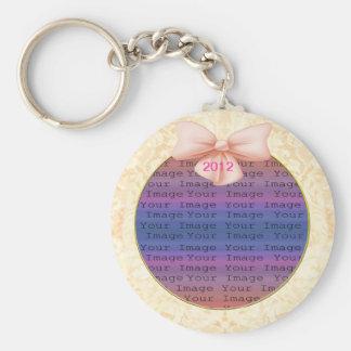 Pink Bow Wedding Key Chain