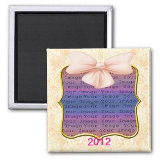 Pink Bow Wedding Magnet