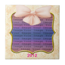 Pink Bow Wedding Tile