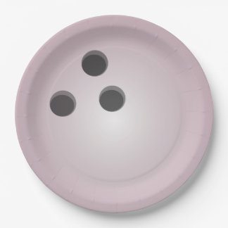 Pink Bowling Ball Paper Plate