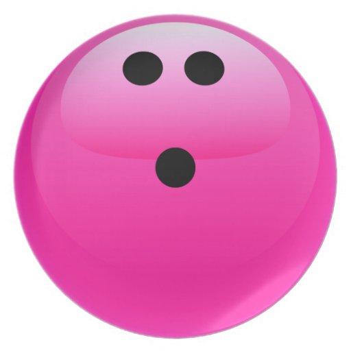 Pink Bowling Ball Plates