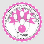 Pink Bowling Ball Stickers