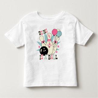 Pink Bowling Pin Birthday Toddler T-shirt