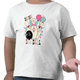 Pink Bowling Pin Birthday T Shirt