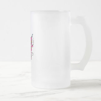 Pink Bowling Shoes Frosted Glass Beer Mug