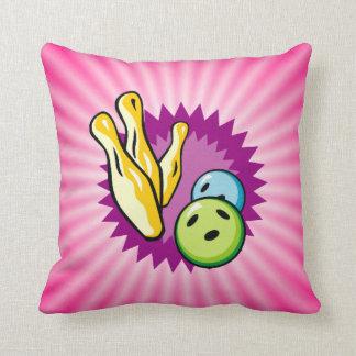 Pink Bowling Throw Pillow