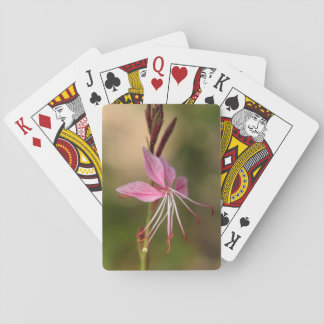 Pink bragging Wand Flower Playing Cards