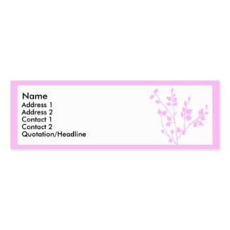 Pink branch 2 Double-Sided mini business cards (Pack of 20)