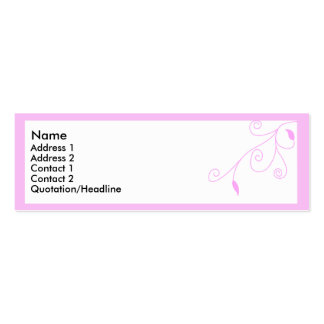 Pink branch 3 Double-Sided mini business cards (Pack of 20)