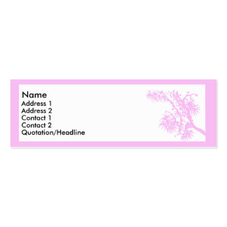 Pink Branch Double-Sided Mini Business Cards (Pack Of 20)