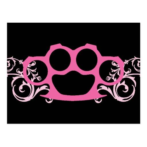 Pink Brass Knuckles Postcard