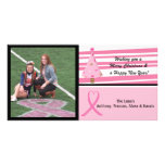 Pink Breast Cancer Awareness Photo Christmas Card Photo Card
